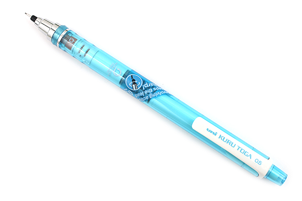 Uni Kuru Toga Auto Lead Rotation Mechanical Pencil - 0.5 mm - Clear Blue - UNI M5450T.33