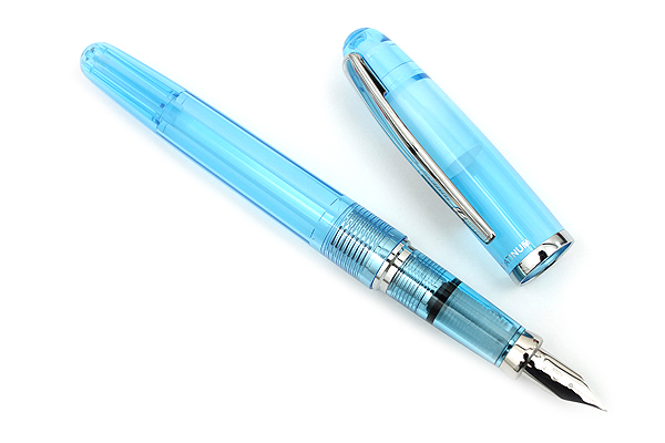 Platinum Balance Fountain Pen - Fine Nib - Crystal Blue - PLATINUM PGB-3000A 58-F