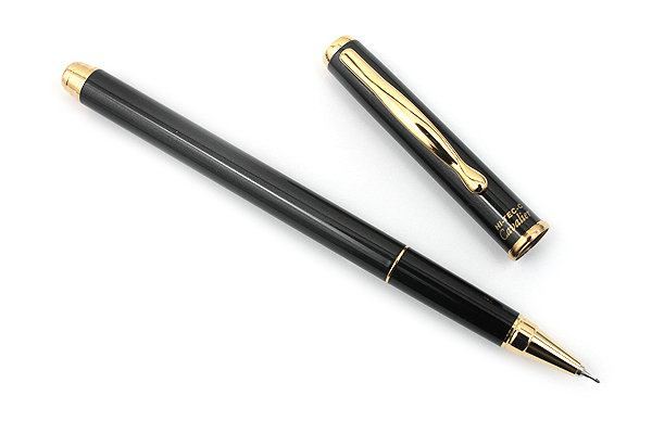 Pilot Hi-Tec-C Cavalier Gel Ink Pen - 0.4 mm - Gold Accents - Black Body - PILOT LCA-2SRC4-B