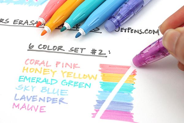 Pilot FriXion Colors Erasable Marker - 6 Color Set 2 - PILOT SFC-60M-6C2