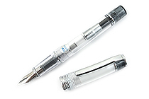 Pilot Prera Clear Body Fountain Pen - Clear Black - Calligraphy Medium Nib - PILOT FPRN350R-TBCM