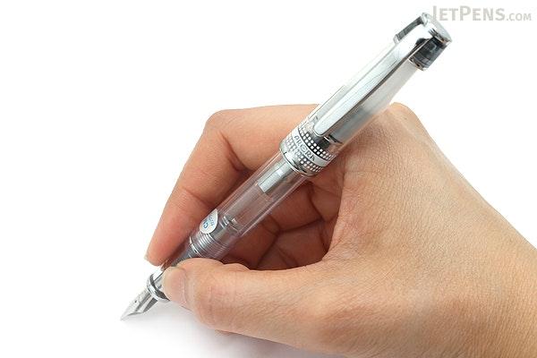 Pilot Prera Clear Body Fountain Pen - Clear Black - Calligraphy Medium Nib - PILOT FPRN350R-TBCM