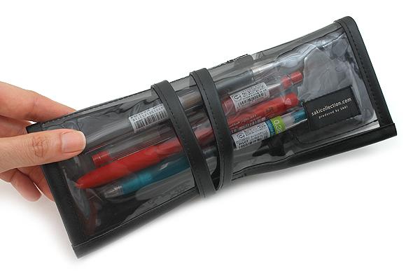 Saki P-662 Roll Pen Case - Medium - Black - SAKI P-662-BK