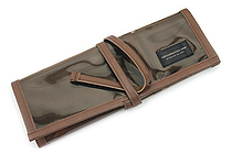 Saki P-662 Roll Pen Case - Medium - Brown - SAKI P-662-BR