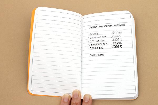 "Rhodia Unlimited Notebook - 3.5"" x 5.5"" - Lined - Orange - Bundle of 5 - RHODIA 118059O BUNDLE"