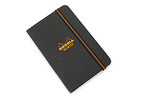 "Rhodia Unlimited Notebook - 3.5"" x 5.5"" - Lined - Black - RHODIA 118059B"