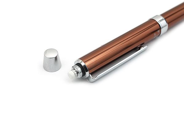 Pilot 2+1 Evolt 2 Color 0.7 mm Ballpoint Multi Pen + 0.5 mm Pencil - Brown - PILOT BTHE-1SR-BN