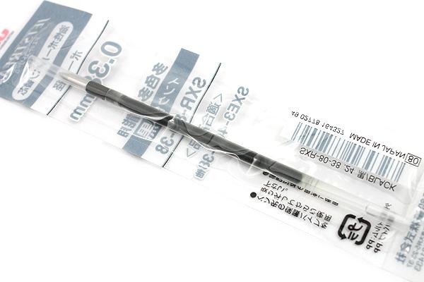 Uni SXR-80-38 Jetstream Ballpoint Multi Pen Refill - 0.38 mm - Black - UNI SXR8038.24