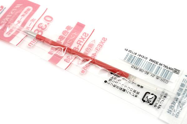 Uni SXR-80-38 Jetstream Ballpoint Multi Pen Refill - 0.38 mm - Red - UNI SXR8038.15