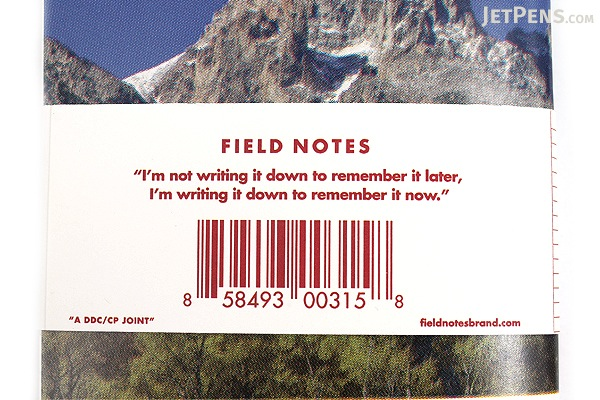 """Field Notes Color Cover Memo Book - America the Beautiful Limited Edition - 3.5"""" X 5.5"""" - 48 Pages - 6.5 mm Rule - Pack of 3 - FIELD NOTES FNC-18"""