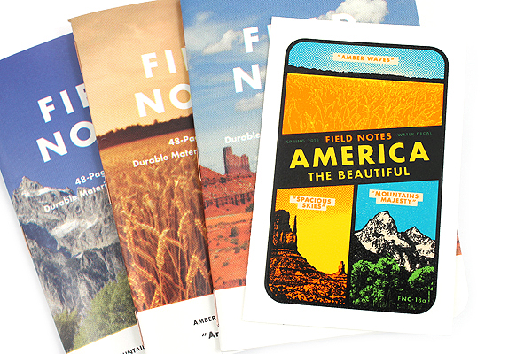 Field Notes Color Cover Memo Book - America the Beautiful Limited Edition - 3.5