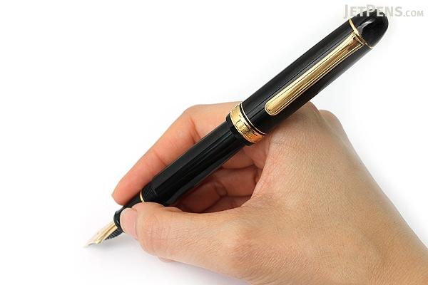 Platinum 3776 Century Fountain Pen - Black - Soft Fine Nib - PLATINUM PNB-10000 1-SF