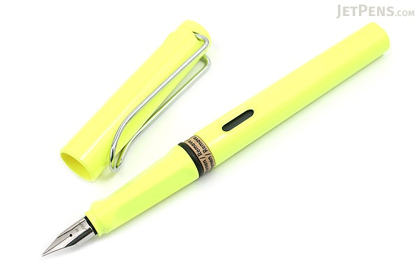 Lamy Safari Fountain Pen - Neon Yellow - Medium Nib - LAMY L13YWM