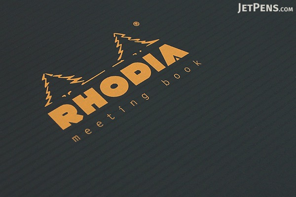"Rhodia Meeting Book 90 - Black - A5+ (6.5"" x 8.25"") - 80 Sheets - Lined - Bundle of 5 - RHODIA 119941 BUNDLE"