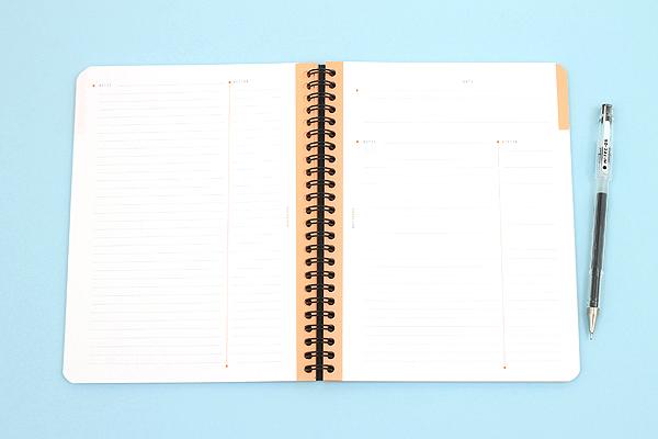"Rhodia Meeting Book 90 - A5+ (6.5"" x 8.25"") - Lined - Black - RHODIA 119941"