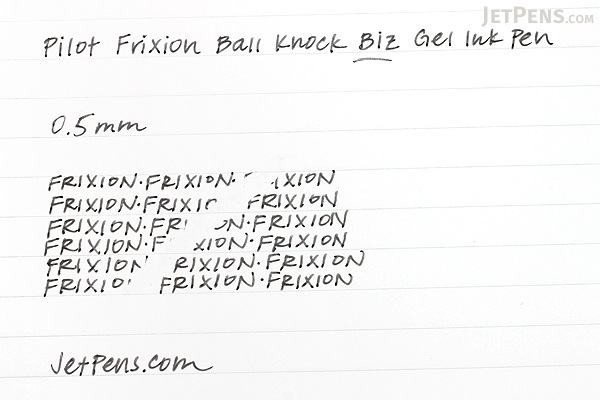 Pilot FriXion Ball Knock Biz Gel Pen - 0.5 mm - Silver Body - PILOT LFBK-2SEF-S