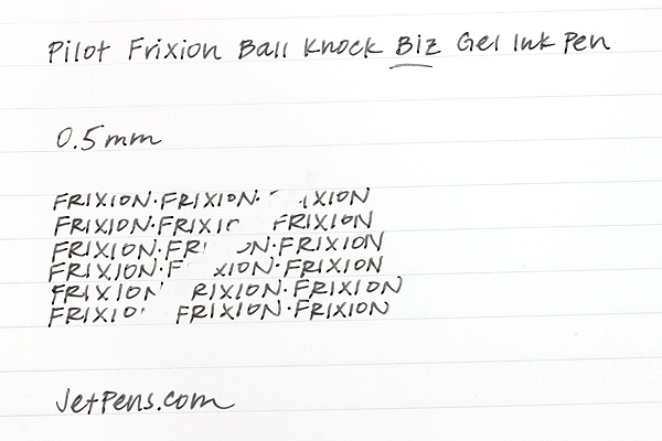 Pilot FriXion Ball Knock Biz Gel Pen - 0.5 mm - Black - PILOT LFBK-2SEF-B