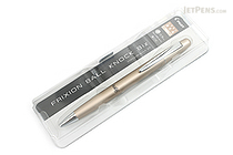Pilot FriXion Ball Knock Biz Gel Pen - 0.5 mm - Champagne Gold Body - PILOT LFBK-2SEF-CGD