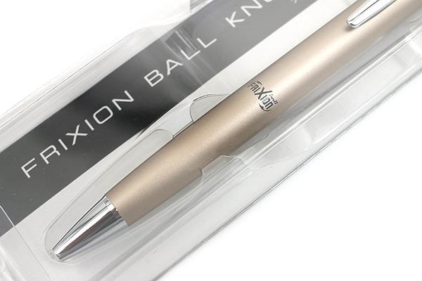 Pilot FriXion Ball Knock Biz Gel Pen - 0.5 mm - Champagne Gold Body - PILOT LFBK-2SEF-CGD