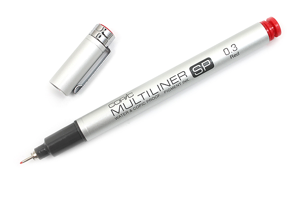 Copic Multiliner SP Pen - 0.3 mm - Red - COPIC MLSPR03