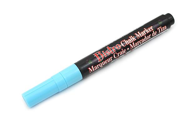 Marvy Uchida Bistro Chalk Marker - Fine Point - Fluorescent Light Blue - MARVY 482-S #F3