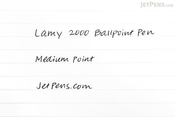 Lamy 2000 Ballpoint Pen - Medium Point - Black Body - LAMY L201