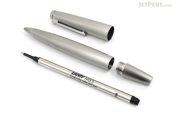 Lamy 2000 Rollerball Pen - Medium Point - Stainless Steel Silver Body - LAMY L302M