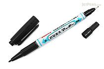 Zebra Onamae Mackee Double-Sided Name Marker - Fine / Extra Fine Twin Tip - Black Ink - ZEBRA YYTS7-BK