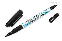 Zebra Onamae Mackee Double-Sided Name Marker - Fine / Extra Fine Twin Tip - Black Ink - ZEBRA YYTS7-BK