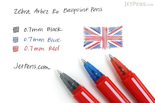 Zebra Arbez Eo Ballpoint Pen - 0.7 mm - Blue Ink - ZEBRA BA67-BL