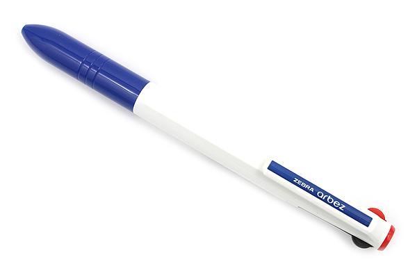 Zebra Arbez Eo 3 Color Ballpoint Multi Pen - 0.7 mm - White Body - ZEBRA B3A67-W