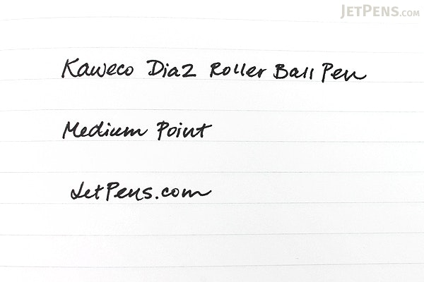 Kaweco Dia2 Rollerball Pen with Chrome Accents - Medium Point - Black Body - KAWECO 10000566