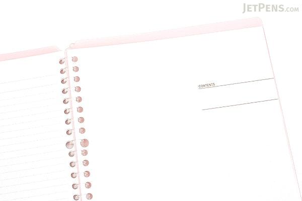 Kokuyo Campus Smart Ring Binder Notebook - B5 - 26 Rings - Light Pink - Bundle of 3 - KOKUYO RU-SP700LP BUNDLE