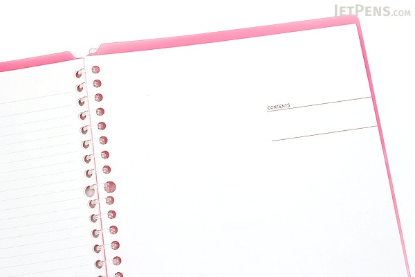 Kokuyo Campus Smart Ring Binder Notebook - B5 - 26 Rings - Dark Pink - Bundle of 3 - KOKUYO RU-SP700P BUNDLE
