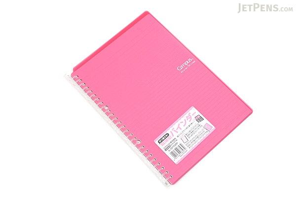 Kokuyo Campus Smart Ring Binder Notebook - B5 - 26 Rings - Dark Pink - KOKUYO RU-SP700P