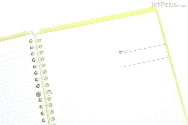 Kokuyo Campus Smart Ring Binder Notebook - B5 - 26 Rings - Yellow Green - KOKUYO RU-SP700YG