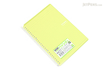 Kokuyo Campus Smart Ring Binder Notebook - B5 - 26 Rings - Yellow Green - KOKUYO RU-SP700YG