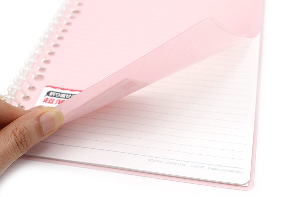 Kokuyo Campus Smart Ring Binder Notebook - A5 - 20 Rings - Light Pink - Bundle of 3 - KOKUYO RU-SP130LP BUNDLE