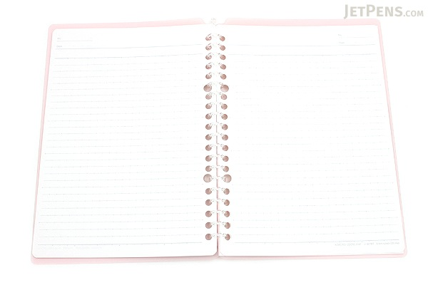 Kokuyo Campus Smart Ring Binder Notebook - A5 - 20 Rings - Light Pink - KOKUYO RU-SP130LP
