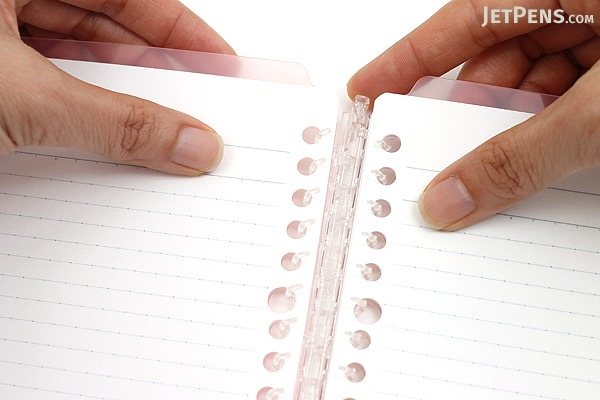 Kokuyo Campus Smart Ring Binder Notebook - A5 - 20 Rings - Light Pink - KOKUYO RU-SP130LP