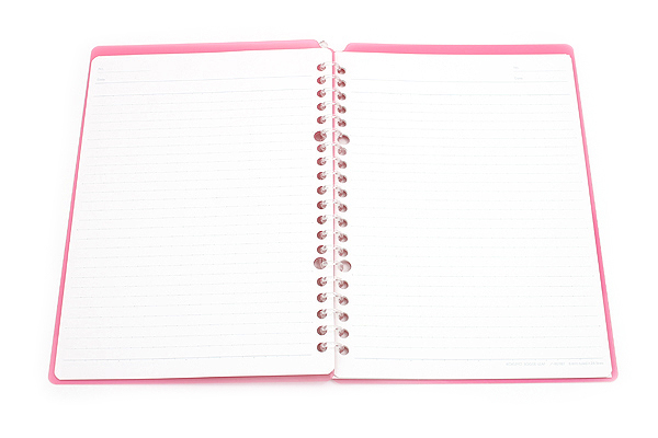 Kokuyo Campus Smart Ring Binder Notebook - A5 - 20 Rings - Dark Pink - Bundle of 3 - KOKUYO RU-SP130P BUNDLE