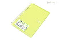 Kokuyo Campus Smart Ring Binder Notebook - A5 - 20 Rings - Yellow Green - KOKUYO RU-SP130YG