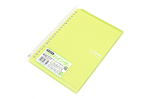 Kokuyo Campus Smart Ring Binder Notebook - A5 - 20 Rings - Yellow Green - KOKUYO RU-SP130YG