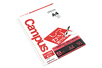 Kokuyo Campus Loose Leaf Paper - Shikkari - A4 - 7 mm Rule - 30 Holes - 50 Sheets - KOKUYO NO-S816A