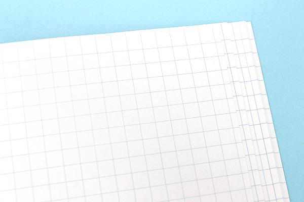Kokuyo Campus Notebook - Slim B5 - 5 mm Graph - 30 Sheets - Light Blue - Bundle of 10 - KOKUYO NO-3PSN BUNDLE