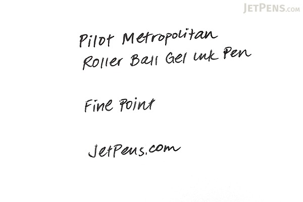 Pilot Metropolitan Rollerball Gel Pen - Fine Point - Gold Plain Body - PILOT MRRC1BLKFGLDP