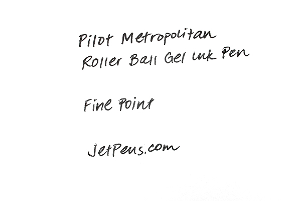 Pilot Metropolitan Rollerball Gel Pen - Fine Point - Black Plain Body - PILOT 91207