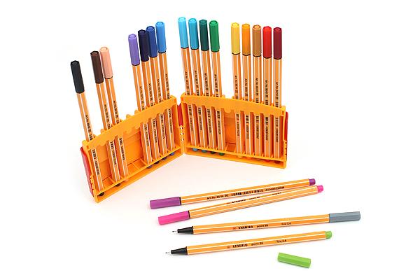 Stabilo Point 88 Fineliner Marker Pen - 0.4 mm - 20 Color Set - ColorParade - STABILO 8820-03