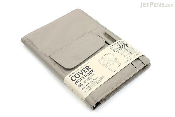 Lihit Lab Smart Fit Cover Notebook - B5 - Beige - LIHIT LAB N-1627-16