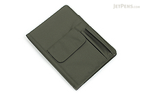 Lihit Lab Smart Fit Cover Notebook - B5 - Olive - LIHIT LAB N-1627-22